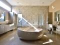 A wild Brazilian stone in an American bathroom