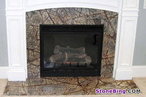 Rain Forest Marble Fireplace