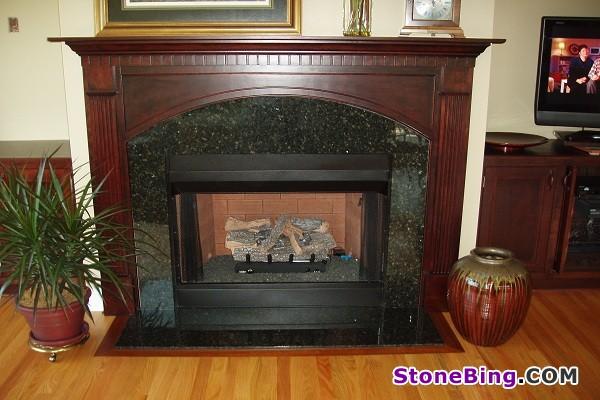 Uba Tuba Granite Fireplace