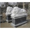 marble sleeping lion statues