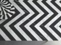 Designer Bethan Gray: stripes, wedges, and zigzags in black and white marble