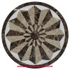 Sunburst Round Floor Medallion
